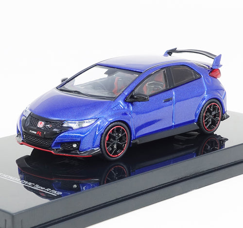 Tarmac Works 1/64 Honda Civic Type R FK2 - Brilliant Sporty Blue Metallic