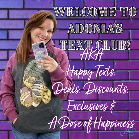 Adonia's text messaging welcome group happy text sms.