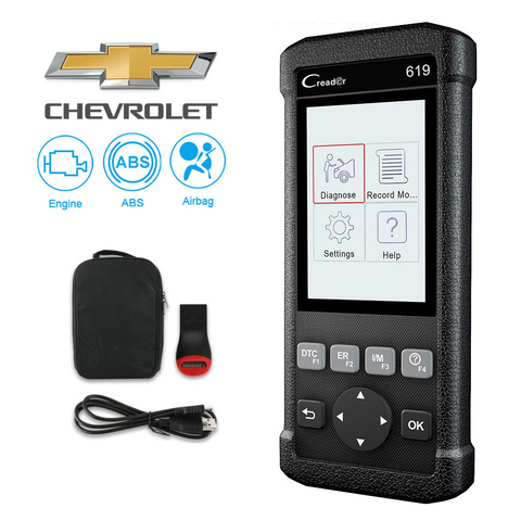 Chevrolet SRS/Airbag, ABS, Reader & Reset Diagnostic Scan Tool
