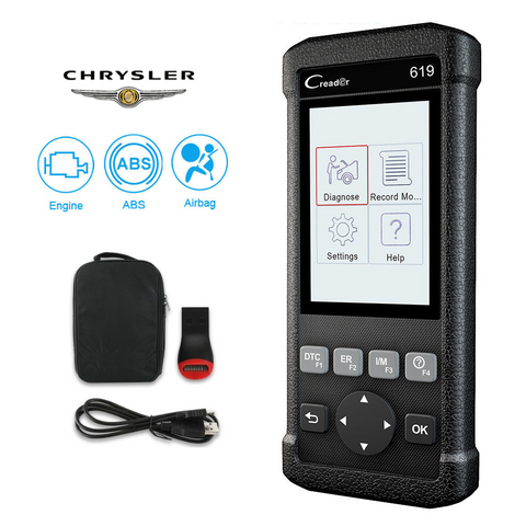 Chrysler SRS/Airbag, ABS, Reader & Reset Diagnostic Scan Tool