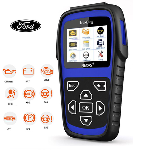 Ford DPF, SAS, BMS, SRS (airbag), ABS, OIL RESET Diagnostic Scan Tool