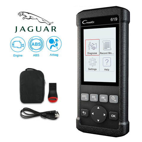 Jaguar SRS/Airbag, ABS, Reader & Reset Diagnostic Scan Tool
