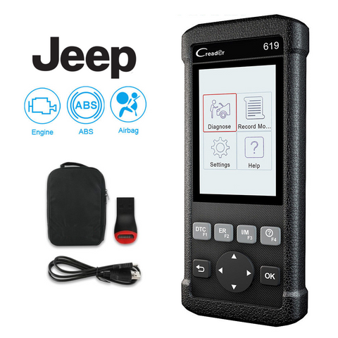 Jeep SRS/Airbag, ABS, Reader & Reset Diagnostic Scan Tool