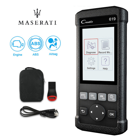 Maserati SRS/Airbag, ABS, Reader & Reset Diagnostic Scan Tool