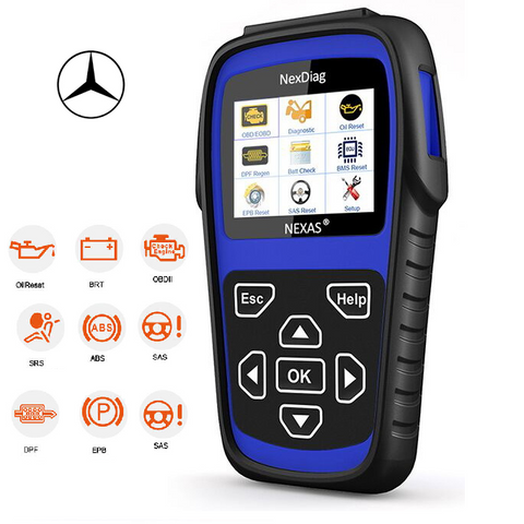 Mercedes SAS, BMS, SRS (airbag), ABS, OIL RESET Diagnostic Scan Tool