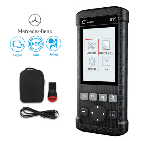 Mercedes SRS/Airbag, ABS, Reader & Reset Diagnostic Scan Tool