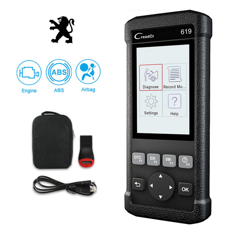 Peugeot SRS/Airbag, ABS, Reader & Reset Diagnostic Scan Tool