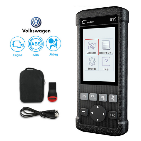 Volkswagen SRS/Airbag, ABS, Reader & Reset Diagnostic Scan Tool