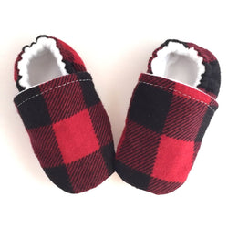 Buffalo Plaid Baby Shoes