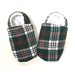 Tartan Plaid Baby Shoes