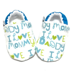 Newborn Baby Shoes -I love my parents