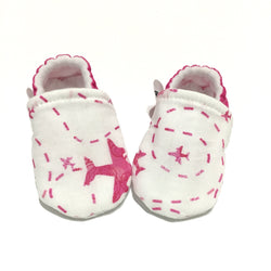 Pink Airplane Baby Shoes