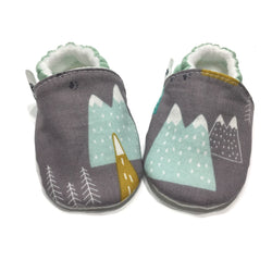 Snowy Mountaintops Baby Shoes