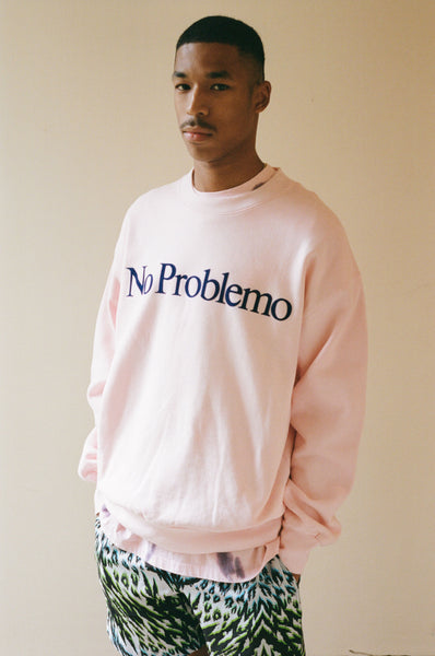 Aries: No Problemo Sweatshirt (Pink/Blue) Aries - Nowhere