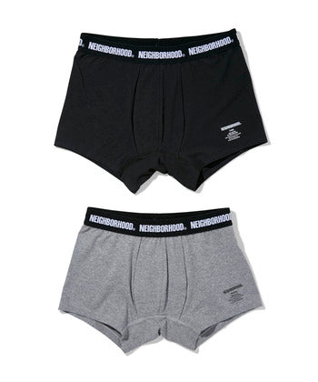 Neighborhood: Classic 2 Pack/C-Under PT Boxers (Black/Grey) Neighborhood - Nowhere
