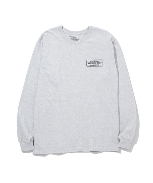 Neighborhood: Bar & Shield L/S C-Tee (Grey)