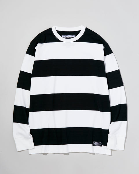 Neighborhood: L/S Stripe Tee (Black/White)