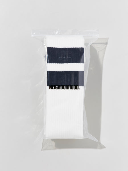 Neighborhood: CLASSIC 3PAC / CA-LONG SOCKS (White) Neighborhood - Nowhere
