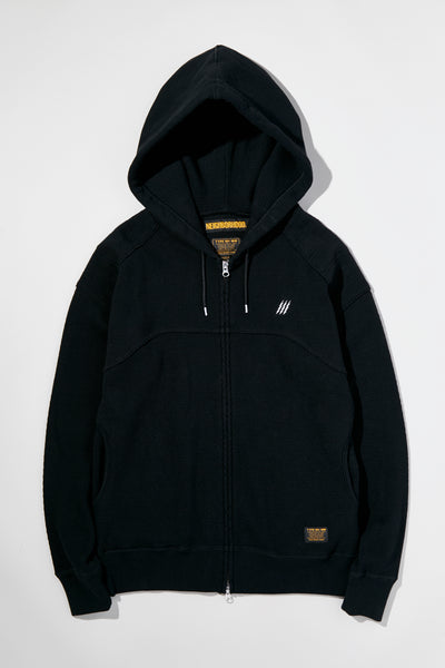 Neighborhood: M-WAFFLE / C-ZIP HOODED . LS (Black) SS19 Neighborhood - Nowhere