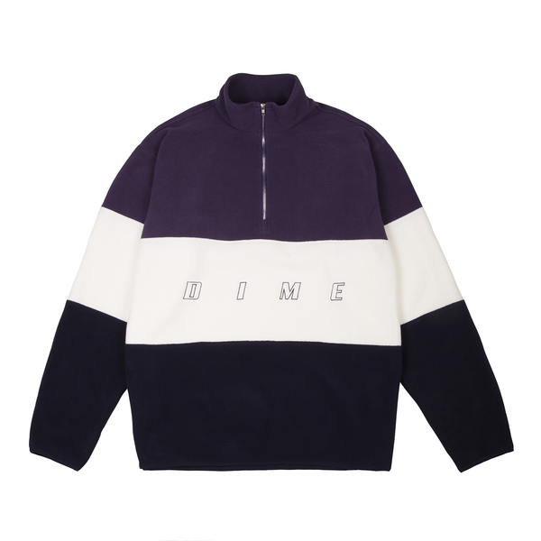 Dime: 3 Tone Fleece Pullover (Purple) Dime - Nowhere