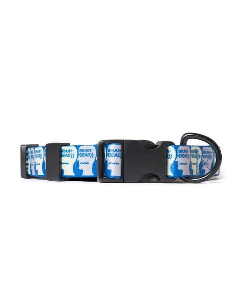 Brain Dead: Logo Dog Collar (Blue) Brain Dead - Nowhere