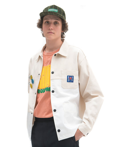Brain Dead: Paneled Chore Coat (White/Natural) Brain Dead - Nowhere