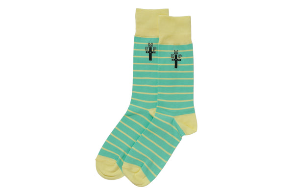 Cav Empt: EMP Stripe Socks (Green) Cav Empt - Nowhere