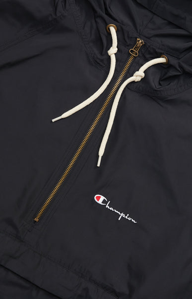 Champion: Half Zip-Through Hooded Jacket (Black) Champion - Nowhere