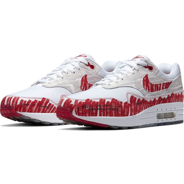 "Nike: Air Max 1 ""Sketch to Shelf"" (White/University Red)"