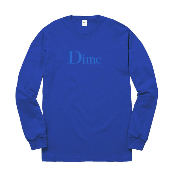 Dime: Classic Logo L/S Tee (Royal Blue) Dime - Nowhere