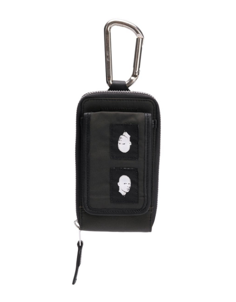 Rick Owens DRKSHDW: Flat Clip-On Pocket (Black with Patches)