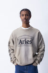 Aries: Column Crewneck (Khaki/Black)