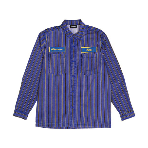PLEASURES: Gas Station Button Up (Purple) PLEASURES - Nowhere