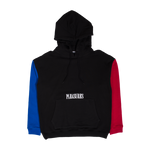PLEASURES: Split Colour Hoodie (Black) PLEASURES - Nowhere