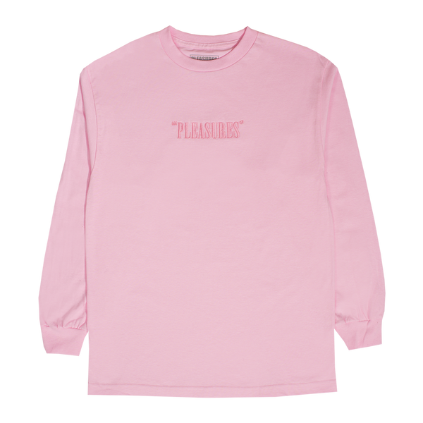 PLEASURES: Core Logo Embroidered L/S Tee PLEASURES - Nowhere