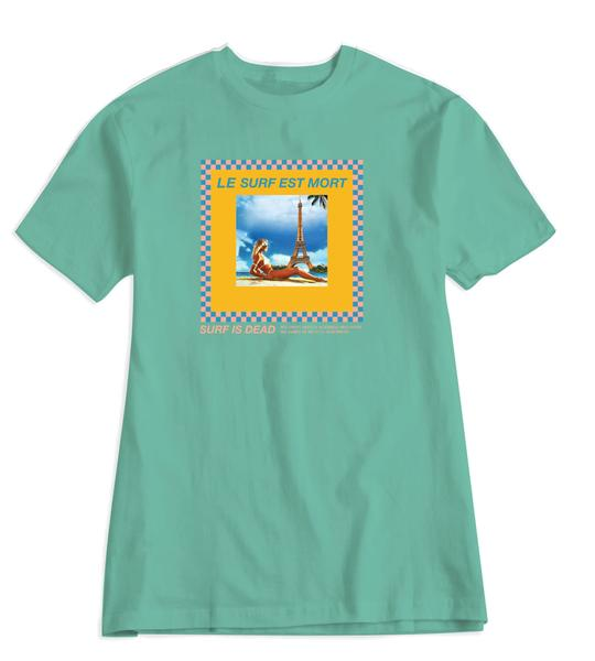 Surf is Dead: Le Surf Tee (Chalky MInt)