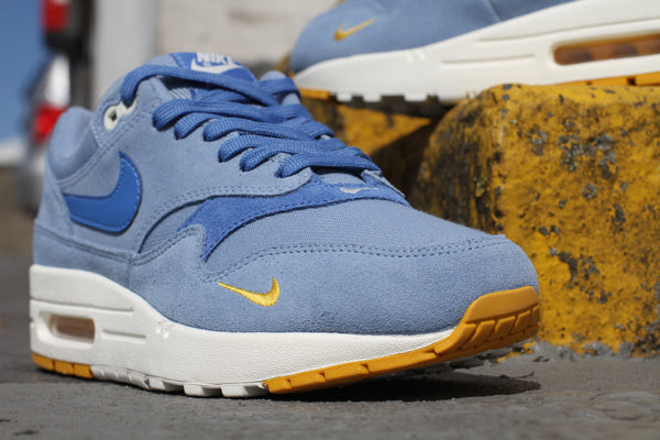 Nike: Air Max 1 Premium (Work Blue/Mountain Blue/Yellow Ochre) Nike - Nowhere