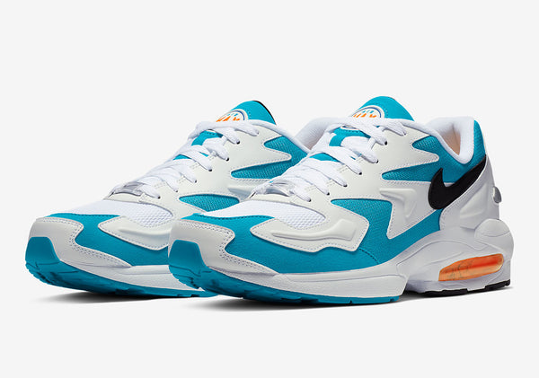 Nike: Air Max2 Light (White/Black/Blue Lagoon/Laser Orange)