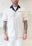 Paterson: Spin Top Bowling Shirt (White) Paterson - Nowhere