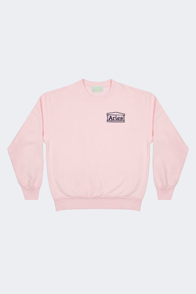 Aries: Basic Crew Sweat (Pink) Aries - Nowhere