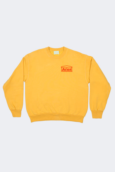 Aries: Basic Crew Sweat (Yellow) Aries - Nowhere