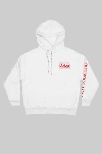 Aries: Double Thickness Temple Hoodie (White) Aries - Nowhere
