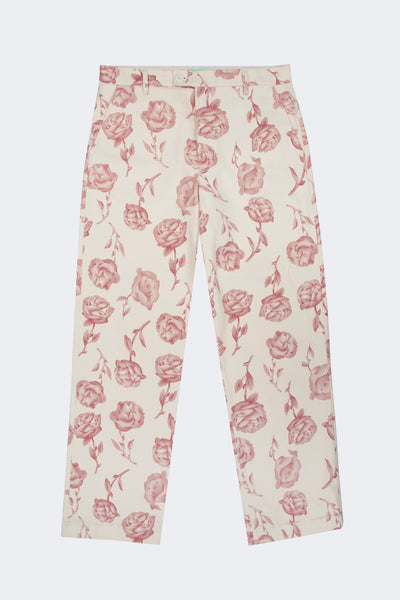 Aries: Rose Chinos (White/Red) Aries - Nowhere