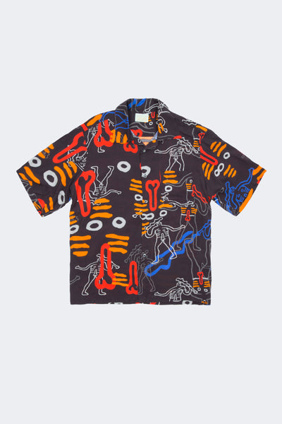 Aries: Dude Bowling Shirt (Black) Aries - Nowhere