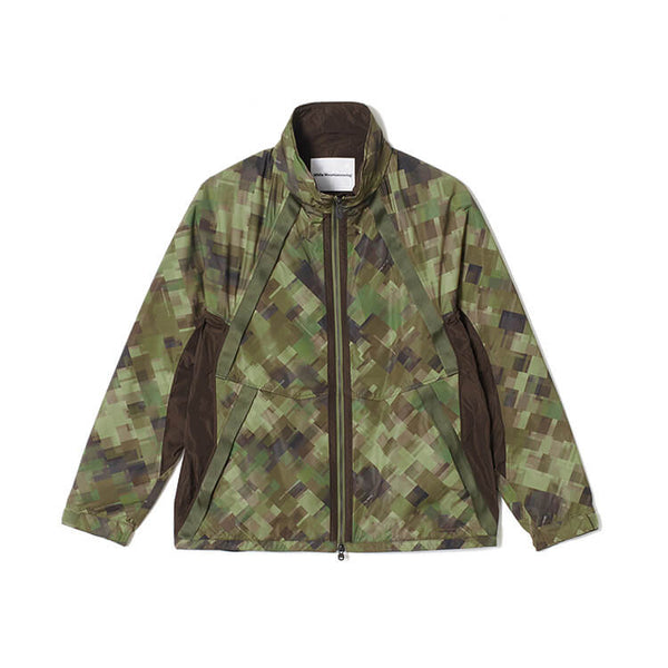White Mountaineering: Original Mosaic Camo Printed Stand Collar Blouson