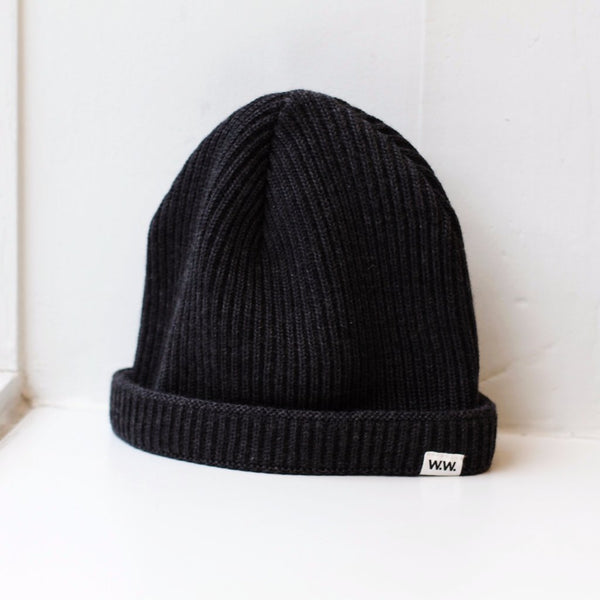 Wood Wood Daci Beanie Dark Grey