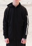 Y-3: 3 Stripe Hoodie (Black/White) Y-3 - Nowhere