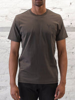 Y-3: S/S Crewneck Tee with Front Print (Black Olive) Y-3 - Nowhere