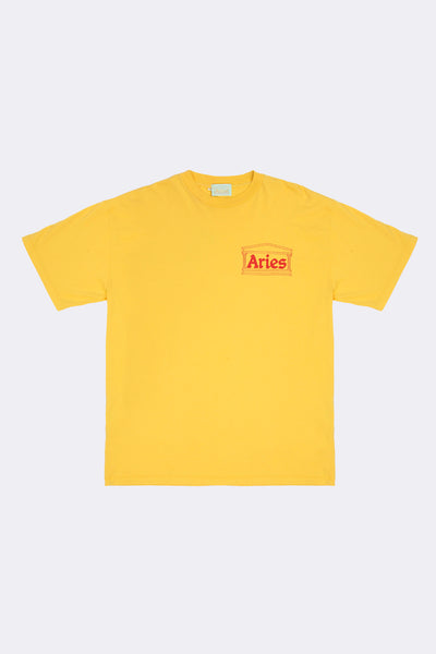 Aries: Basic Temple Tee (Yellow/Red) Aries - Nowhere