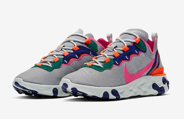 Nike: React Element 55 (Wolf Grey/Laser Fuchsia)